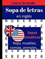 Sopa de letras en inglès: libro de sopa de letras para adultos y mayores