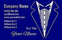 ブルータキシードPersonalizedビジネスカード 5000 Business Cards