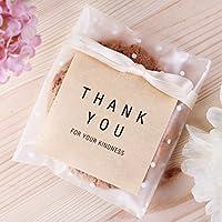 40個はあなたにクラフト紙ステッカーラベルシールパッキンステッカークラフト茶色に感謝します