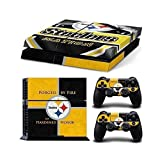 Sony PlayStation 4 Skin Decal Sticker Set - NFL Pittsburgh Steelers (1 Console Sticker + 2 Controller Stickers) by COLORSKIN [並行輸入品]