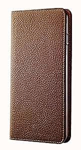 BONAVENTURA ボナベンチュラ iPhone 6s Plus / 6 Plus ケース (5.5インチ) ドイツ製本革 牛革 レザー アイフォンケース 手帳型 German leather diary type iPhone case (ライトブラウン)