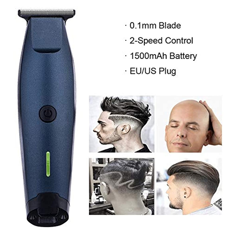 穏やかな過言艶ヘアクリッパープロフェッショナル充電式ヘアトリマーひげ剃り用男性サロン電気バリカンカッター彫刻彫刻カッティングマシン