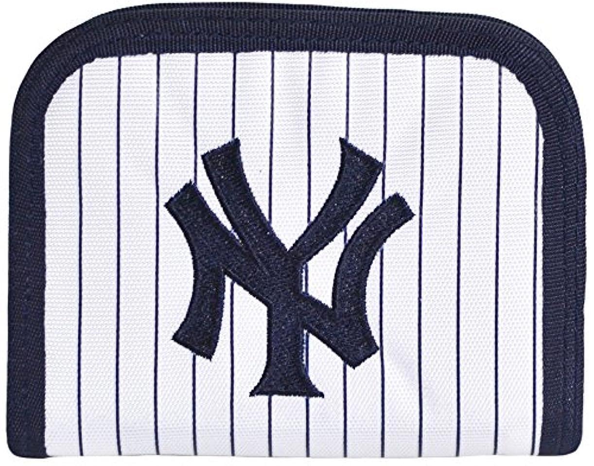 なめらか南方の禁止する野球好き NY かっこいい マジックテープ財布 ストラップ付き ニューヨークヤンキース?ラウンドウォレット【NY-002】