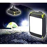 EVELTEK LEDランタン 携帯型 キャンプライト LED投光器 USB充電式 ポータブル テントライト 明るさ3段階 停電対策 登山 夜釣り ハイキング アウトドア キャンプ用【2019新型】グリーン