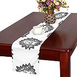 GGSXD テーブルランナー 幼い ハリネズミ クロス 食卓カバー 麻綿製 欧米 おしゃれ 16 Inch X 72 Inch (40cm X 182cm) キッチン ダイニング ホーム デコレーション モダン リビング 洗える