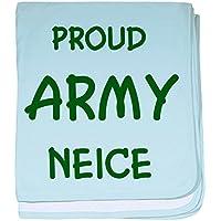 CafePress – Army Neice – スーパーソフトベビー毛布、新生児おくるみ ブルー 049508059225CD2