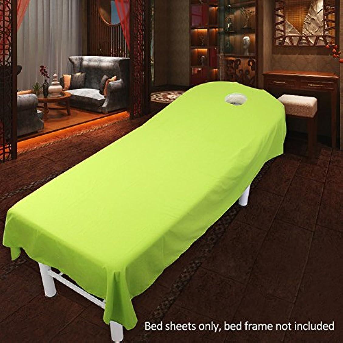 比喩葉っぱはっきりとマッサージベッドシーツカバー、化粧ベッドシーツカバーSPAマッサージトリートメントベッドテーブルカバーシーツ美容化粧品マッサージスポンジフィットシート(80cmx190cm,緑)