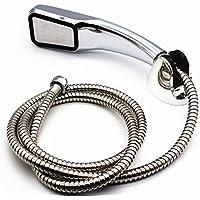 バスルームトップ品質300穴高圧力ハンドヘルドシャワーヘッド水保存Rainfallクロームホルダーとホース1セット