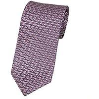 (ブルガリ)BVLGARI ブルガリ ネクタイ 240001メンズ プリント デザイン レッド/ブルー [並行輸入品]