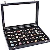 Amazon.co.jpYihiro 指輪ケース ベロア調 ピアスケース ディスプレイ 展示用 ジュエリーボックス 最大100個収納可能!