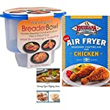 Cajun Chicken Seasoning Mix   Breader Shaker Bowl   Cajun Dipping Sauce Recipe   Louisiana Air Fryer Seasoning Coating Mix and The Original Breader Bowl Bundle