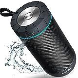 COMISO Bluetooth スピーカー 36時間連続再生 高音質 360度サウンド IPX5防水保護 ポータブル アウトドア ワイヤレススピーカー 2個6W 大音量 低音強化 内蔵マイク搭載 (ブラック)
