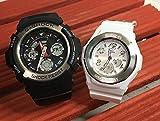 カシオCASIO 腕時計 G-SHOCK&BABY-G ペアウォッチ 純正ペアケース入り ジーショック&ベビージー 2本セット AW-590-1AJF BGA-100-7B3JFクリスマス プレゼント ギフト Xmas 人気 ラッピング無料 クリスマスカード