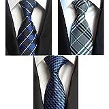 Yubier ネクタイ 3本セット ビジネス用