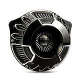 Deep cut AN air intakes for Harley Softail fatboy 2018,air filters FLTRX FLHR FLHX FLHTCU air cleaners 17-18 BLACK