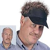 Starry ハゲ 専用 カツラ サンバイザー 帽子 ヘア カラー(ダークブラウン)