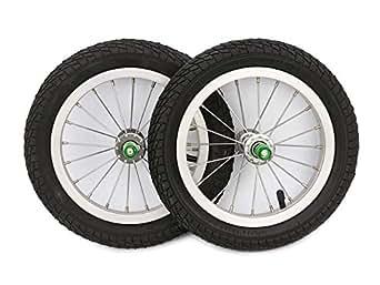 STRIDER ストライダー キッズ用ランニングバイク カスタムパーツ 12インチアルミホイール&ゴムタイヤ ※2本セット売り