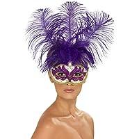 ベネチアンマスク 紫 フレンチ?カンカン風 パーティー 大人女性用 Purple Can Can Beauty Eyemask