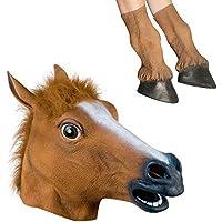 [サインステック]Signstek Latex Horse Head Mask with 1 Pair Horse Hooves Gloves 3261769 [並行輸入品]