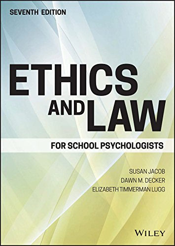 Download Ethics and Law for School Psychologists 1119157064