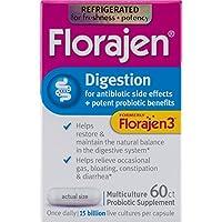 海外直送肘 Florajen 3 High Potency Probiotic Unique Multiculture Formula Capsules, 60 caps