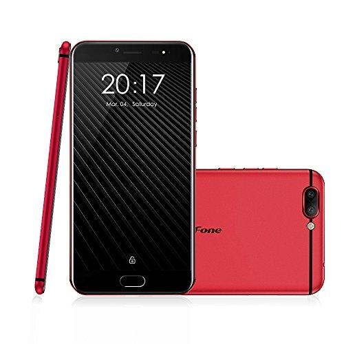 Ulefone T1 スマートフォン 4G Android 7.0 helio P25 オクタコア 2.6Ghz SIMフリー 高速充電 3680mAh 5.5インチFHD 1920* 1080px 6GB RAM 64GB ROM 指紋認証 金属ボディー 16MP 8MP ダブルフラッシュ GSM WCDMA CDMA2000 FDD-LTE TDD-LTE Bluetooth 4.1 ブラック レッド (レッド)