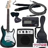 SELDER セルダー エレキギター ストラトキャスタータイプ サクラ楽器オリジナル ST-16/BLS 初心者入門ベーシックセット