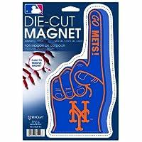 """MLBニューヨークメッツダイカット# 1指ロゴマグネット、6.25"""" X 9"""""""