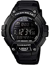 [カシオ]CASIO ソーラー SPORTS DIGITAL スポーツ デジタル W-S220-1B 腕時計 ランニングウォッチ ブラック [並行輸入品]