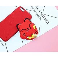 HuaQingPiJu-JP ミニ漫画ラッキーキャットの形状の小さなガラスミラー工芸装飾化粧品アクセサリー