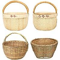 手作りの竹製品竹のバスケットバスケット竹のふるい蒸しパンの収納バスケット青い家庭の排水洗浄された果物倉庫