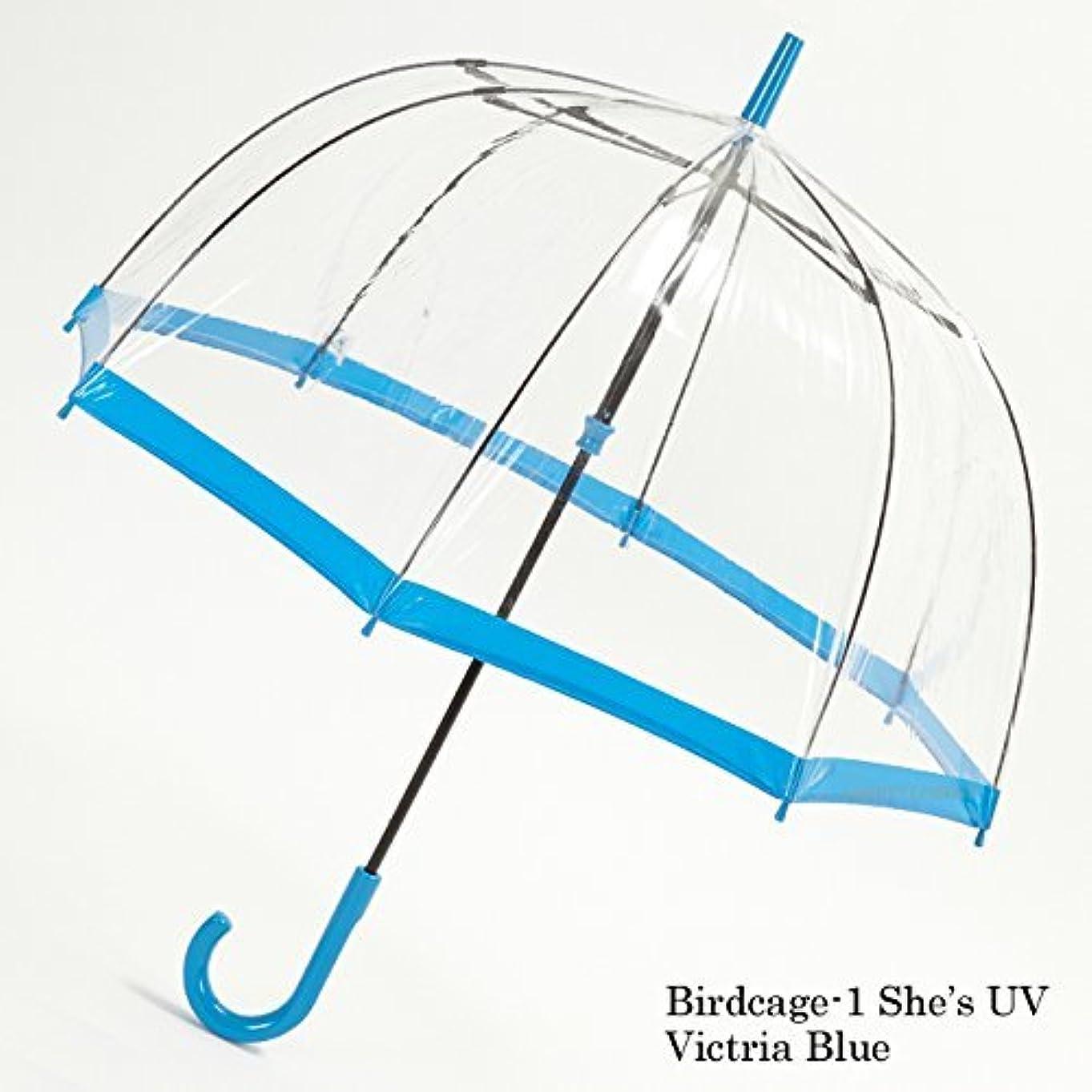 中世の変化持つフルトン FULTON バードケージ Birdcage UV カット 紫外線カット L783 Victria Blue ビニール傘 fultonl783blue