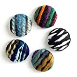 Craft Tamago 【10個】包みボタン 毛糸のファブリック 25mm