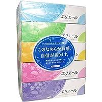 【セット品】エリエール ティシュー 180組360枚×20箱入り パルプ100% (5個パック×4個)