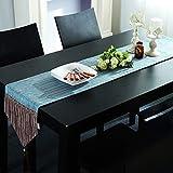 布テーブルランナー、ヨーロッパストライプコットンベッドフラグコーヒーテーブルフラグリビングルームテーブルフラグテレビキャビネットカバータオルドレッシングテーブルスカーフ g (色 : A, サイズ さいず : 30x200cm)