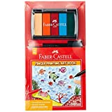 Faber-Castell PL180688S Finger Painting Art Book Set with Red and Black Connector Pen