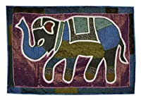 Lalhaveli Indian Handmade Wall Hanging Decal Elephant Art Decoration 101 x 152 Cm