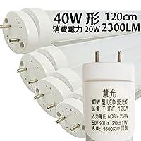 LED蛍光灯 直管 40W形120cm 2300LM グロー式工事不要 led 蛍光管 昼白色[慧光120A-4set]