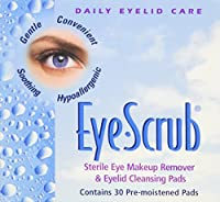 Eye Scrub Sterile Makeup Remover and Eyelid Cleansing Pads, 30 Count by Eye Scrub