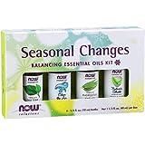 Now Foods Seasonal Changes, Balancing Essential Oils Kit, Bottles, 10ml (Pack of 4)