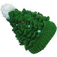 Kafeimali Baby Christmas Tree Knit Hat Green Red Crochet Beanie Reindeer Caps