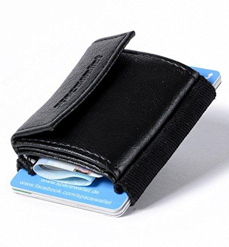 小さな財布 space wallet push 【ブラックナイトガードベーガン】