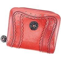 [アナスイ] ANNA SUI 二つ折り 財布 ラウンドファスナー レディース スカラップ ラインストーン付き ローズモチーフ 中古 良品 T5884