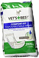 Vet's Best 12 Count Comfort Fit Disposable Male Dog Wrap, Small by Vet's Best