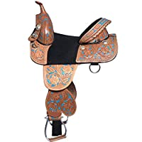 "Manaal Enterprises WesternプレミアムレザーTreeless HorseサドルTack size- 14 "" to 18 "" Inch Seat Available 18"" Inch Seat"