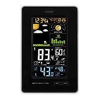 La Crosse Technology 308–1425b-int垂直ワイヤレス色天気駅で圧力、ブラック