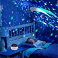 Star Night Light, Cre-Heaven Baby Night Light Star Moon Rotating Projector Bedside Lamp Color Changing Timer Setting for Kids Christmas Gifts