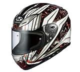 オージーケーカブト(OGK KABUTO)バイクヘルメット フルフェイス AEROBLADE3 ROVENTE (ロヴェンテ) ホワイトレッド (サイズ:M)