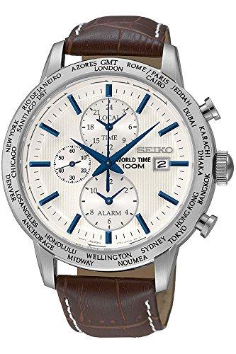セイコー ワールドタイム アラーム GMT メンズ 腕時計 SPL051P1 ホワイト [並行輸入品]