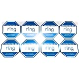8 - Ring Doorbell Security Sticker Decals - Double-Sided Authentic